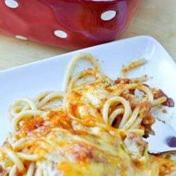 Grandma's Zesty Baked Spaghetti