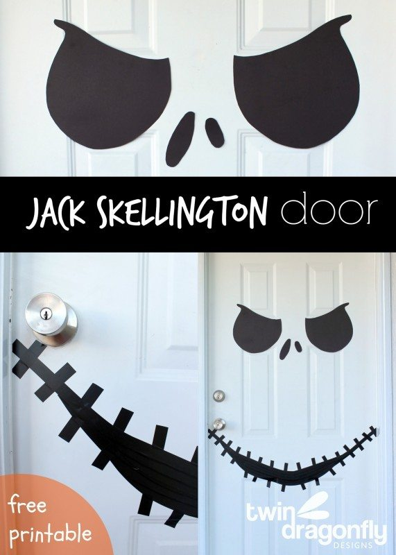 Jack skellington door amp free printable from twin dragonfly designs