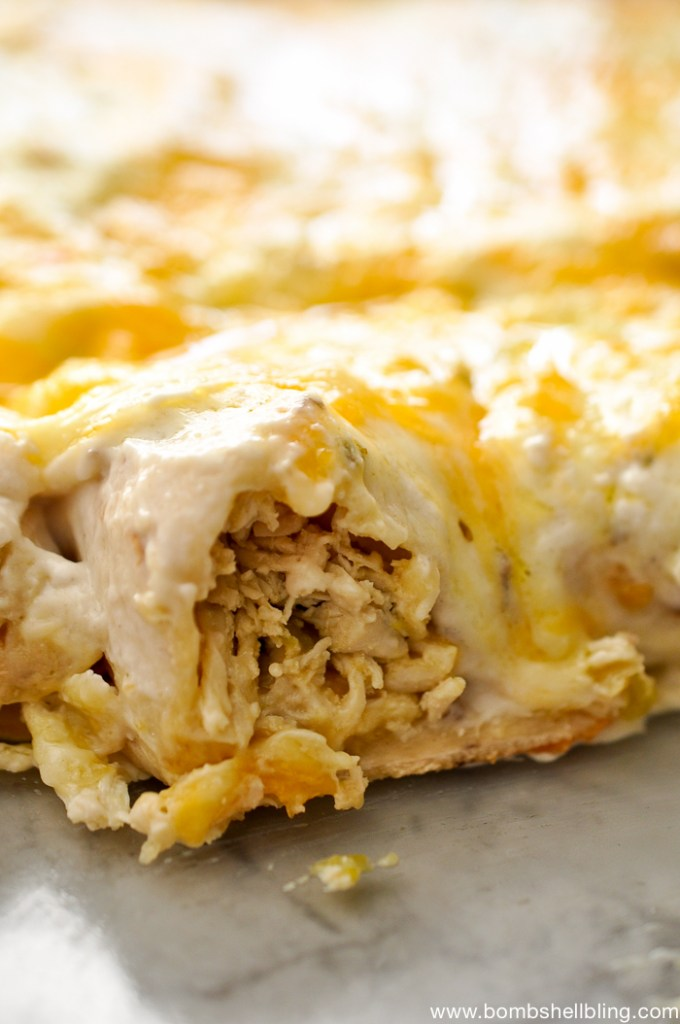 Creamy Pepper Jack Chicken Enchiladas