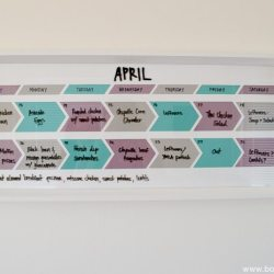 Paint Chip Menu Planner