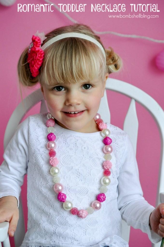 Romantic Flower Toddler Necklace Tutorial from Bombshell Bling