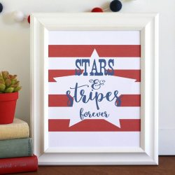 Stars and Stripes Free Printable
