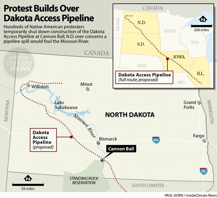 Dakota Access Pipeline carte