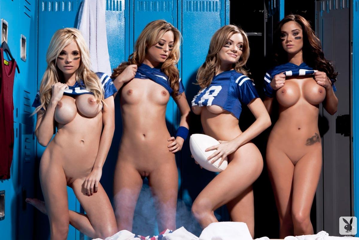 Girls group locker room consider