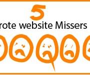 5 website missers