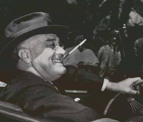 Roosevelt and his cigarette holder