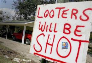 Katrina looters will be shot
