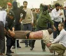 Public lashing in Iran