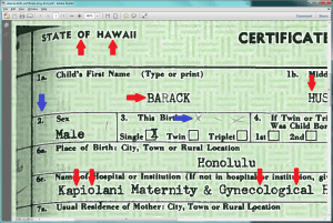 Obama long form birth certificate