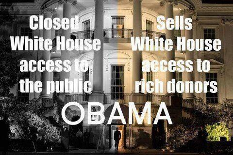 Obama controls access to the White House