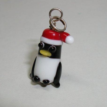 Penguin in Santa hat