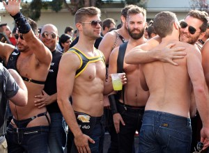 Gay men at San Francisco street fair