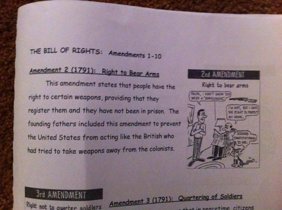 How schools teach the 2nd amendment