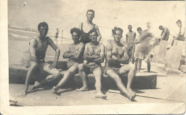 Construction workers enjoying a day at the beach, Tel Aviv, 1920s
