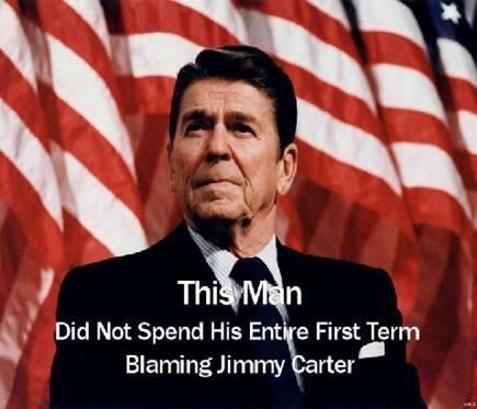 Reagan didn't blame Carter