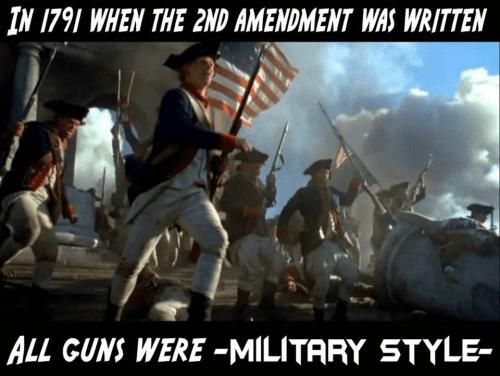 Military style guns
