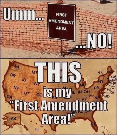 America's first amendment area