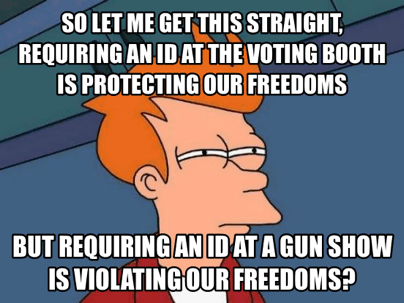 Comparing voter ID and gun shows
