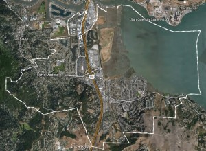 A bird's eye view of Corte Madera