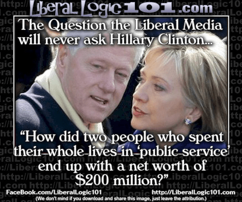 Clintons public service vast wealth