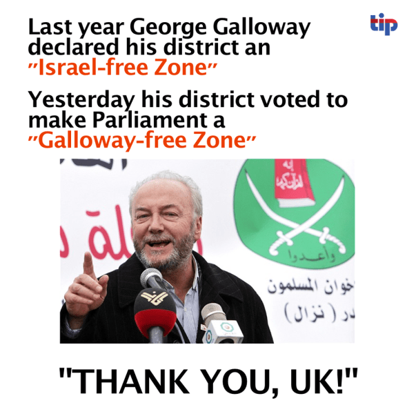 George Galloway out of politics