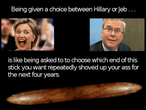 Hillary Clinton versus Jeb Bush