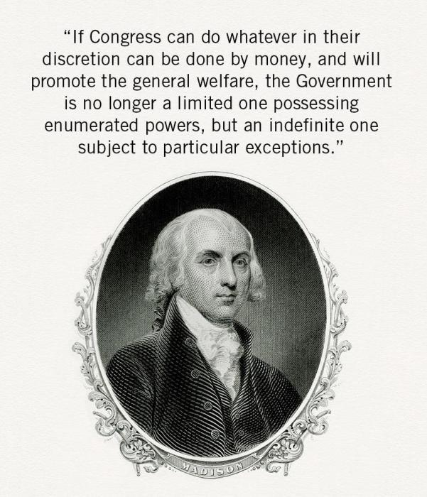 Madison on the risk of Congress abandoning constitution