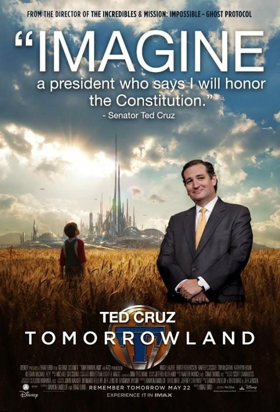 Ted Cruz Tomorrowland posters