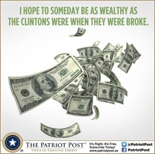 As wealthy as the broke Clintons