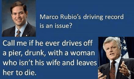 Marco Rubio Ted Kennedy Driving Records