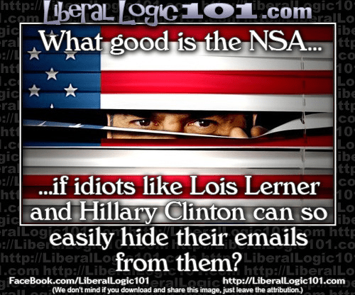 NSA doesn't stop Lerner and Hillary