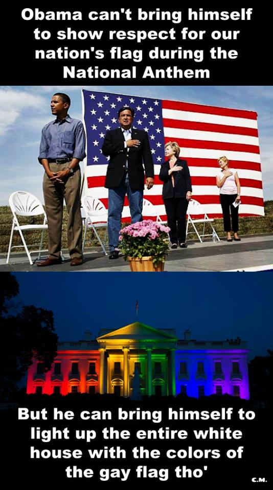 Obama's rainbow colored white house