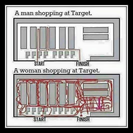 Shopping at Target