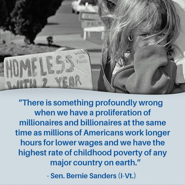 Bernie Sanders on childhood poverty