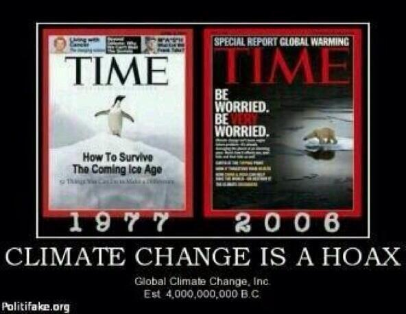 Climate change a hoax