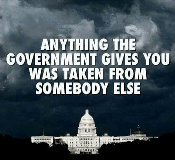 Government steals to give to others