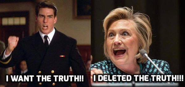 Hillary deleted the truth