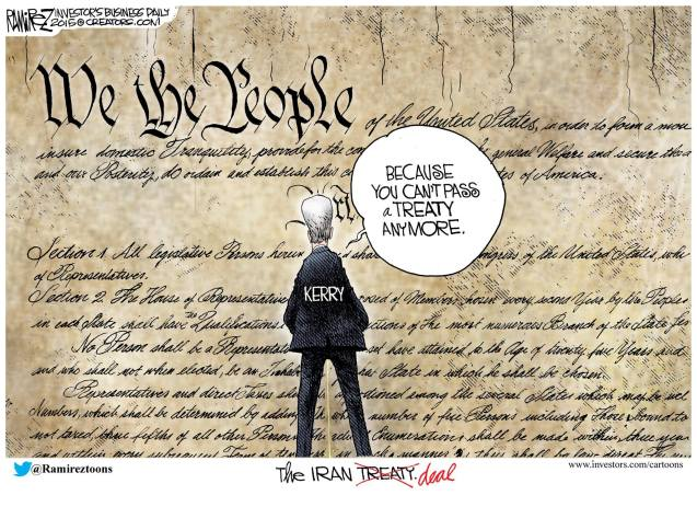 Ramirez on the Iran deal Kerry pisses on constitution