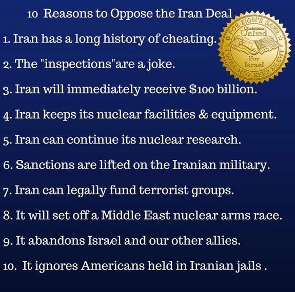 Ten reasons to oppose Iran deal