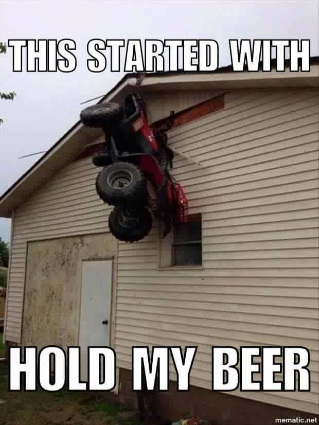 Hold my beer tractor on wall