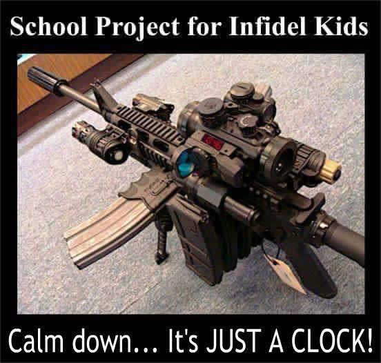 It's just a clock