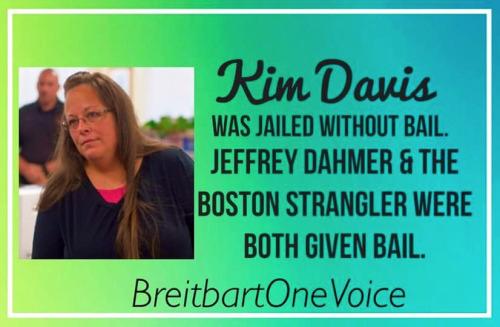 Kim Davis no bail