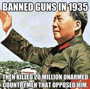 Mao and gun bans