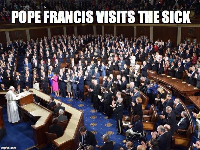 Pope Frances visits Congress