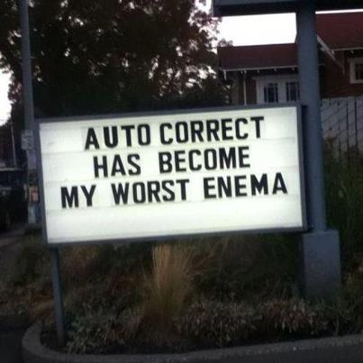 AutoCorrect enema