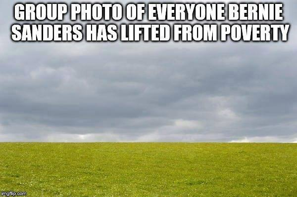 Bernie Sanders poverty relief
