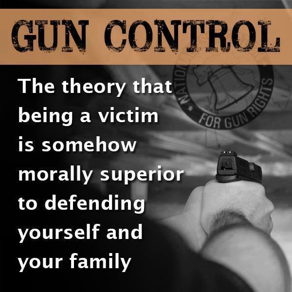 Gun control morally superior to be a victim