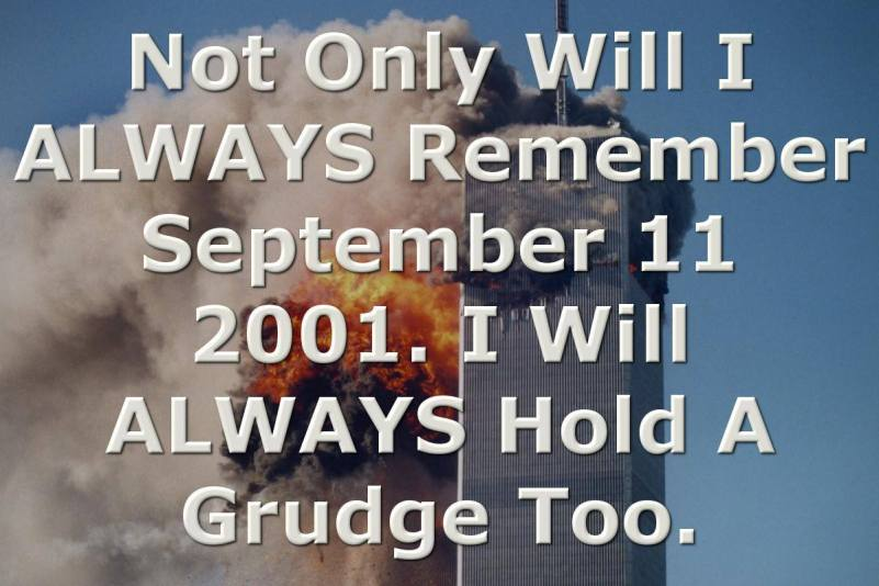 Holding a grudge about 911