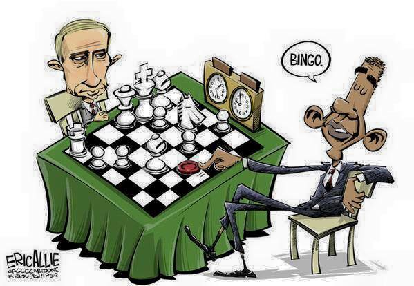 Obama plays Bingo Putin plays Chess
