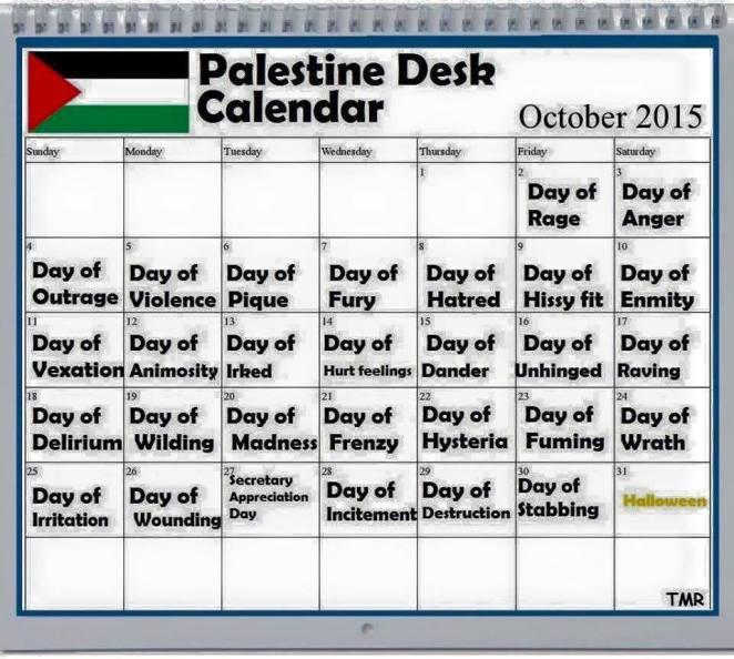 Palestinian psychotic calendar